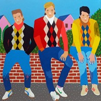 'The Casuals' Portrait Painting by Alan Fears