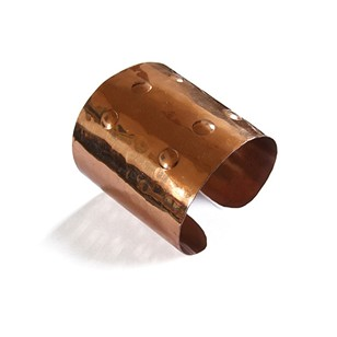 1960s Copper Statement Cuff Bracelet Brutalist