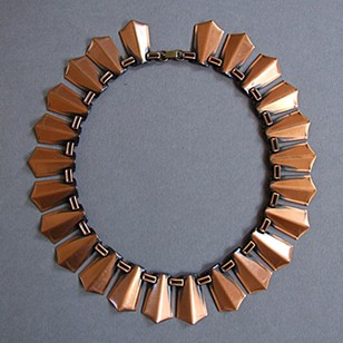 1960's Copper Renoir Necklace