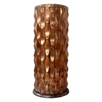 Art Deco Sculptural Copper Umbrella Stand