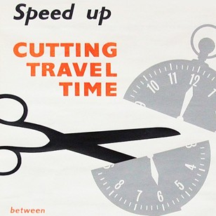 1960s Cutting Time British Rail Travel Poster