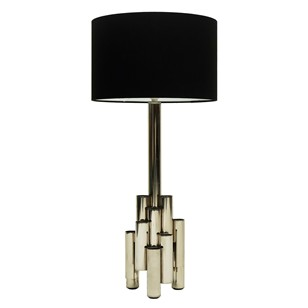 1960s Modernist Tubular Steel Table Lamp Ponti