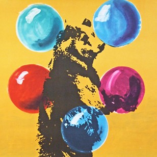 1970's Cyrk Tightrope Bear Poster