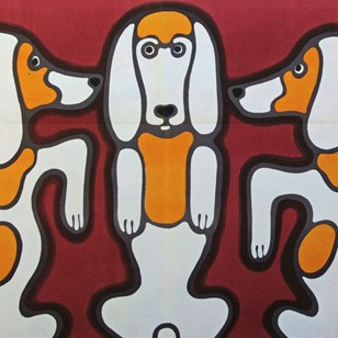 1960's Cyrk Polish Circus Dog Dance Poster