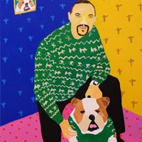 'Rapper's Delight' Portrait Painting by Alan Fears