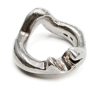 1960s Silver Heavy weight Decca Abstract Ring