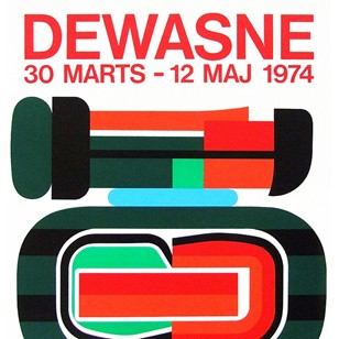 1970's Dewasne Exhibition Poster Pop Art