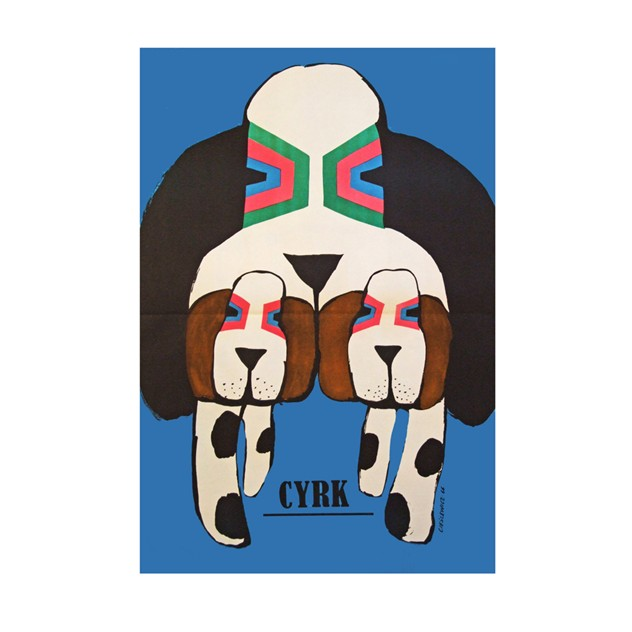 1960's Cyrk Polish Circus Three Hounds Poster-fears-and-kahn-dogs-1done_main-1.jpg