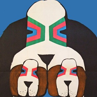 1960's Cyrk Polish Circus Three Hounds Poster