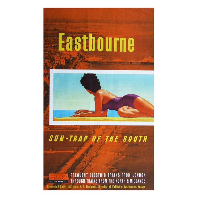 1960's Eastbourne Travel Poster Seaside Art-fears-and-kahn-eastbournesuntrap poster_main.jpg