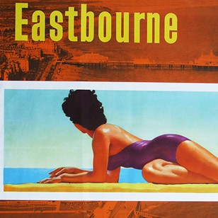 1960's Eastbourne Travel Poster Seaside Art