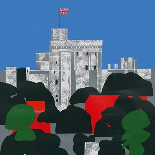 1980s Windsor Travel Poster by Edward Pond