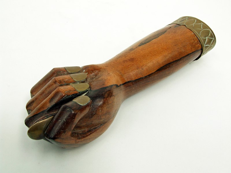 1950s Rosewood & Brass Figa Fist Sculpture-fears-and-kahn-figa-3-main-637236509893979757.jpg