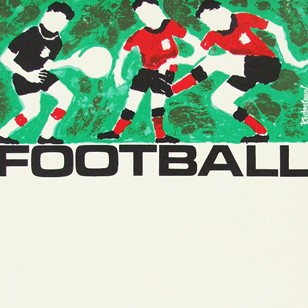 1960s British Transport Football Travel Poster