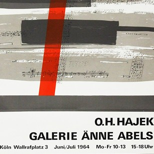 1960's Hajek Art Exhibition Poster
