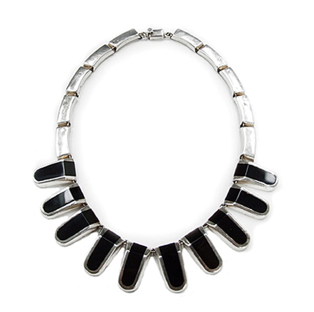 1960s Silver & Onyx Holloware Necklace-fears-and-kahn-hollowarenecklace-product_main.jpg