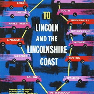 1960's Lincolnshire Bus Travel Poster