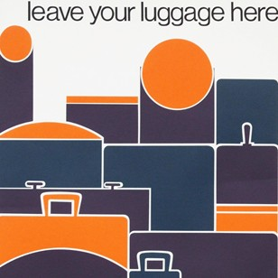 60s British Transport Roger Bigg Luggage Poster