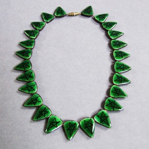 1950s Ceramic Lund Necklace (Green)