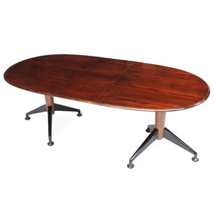 1950s Rosewood Extendable Heals Milne Dining Table