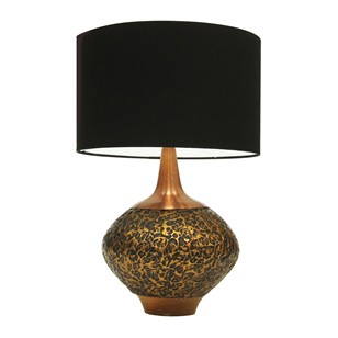 1960s Textured Copper Table Lamp