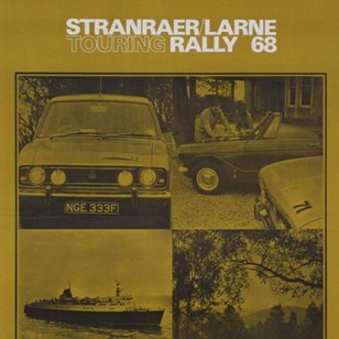 1960s Scotland & Ireland Car Touring Rally Poster