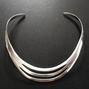 1960s Silver Taxco Choker Necklace