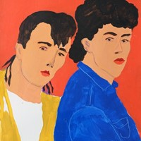 'Tears for Fears' Portrait Painting on Paper