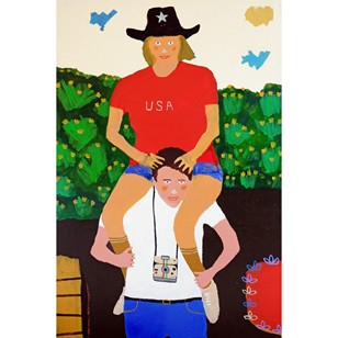 'The Tourists' Portrait Painting by Alan Fears