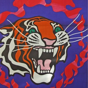 1970's Cyrk Tiger Flame Poster