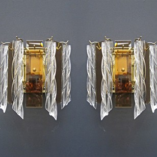 1970's Venini Wall Sconces