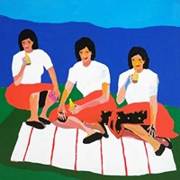 'Wives on a Blanket' Portrait Painting Alan Fears