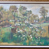 Macdonald Frances Landscape with Flowering tree