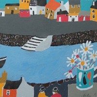 "Heather Bray,  ""A Daisy Day"" Cornish painting."
