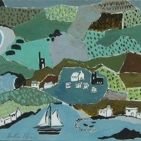 "Painting by Heather Bray "" Cornwall  in Summer """