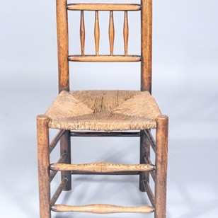 Sussex  Country Rush Seated Chair.