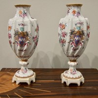 A Pair of Sampson Armorial Vases