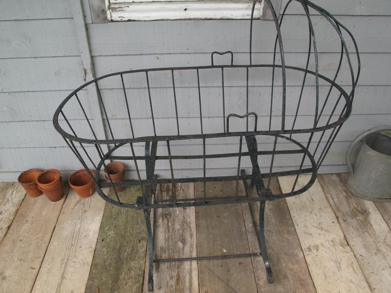 Cradle Wrought Iron Blacksmith made c. 1880-fleet-gallery-french-country-antiques-022-main-637239315405529352-large-main-637271456021116927.JPG