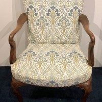 Walnut Open Elbow Chair. 18thc