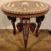 Indian Hoshiapur Table with Elephant Trunk Legs.