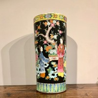 Japanese Large Cylindrical Vase. 19thc.