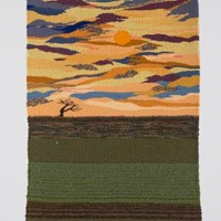 "Elaine Short Tapestry. "" Sunset over Romney Marsh"
