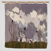 "Elaine Short. Tapestry ""Winter Sky with Rooks"""