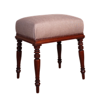 Upholstered Mahogany Stool