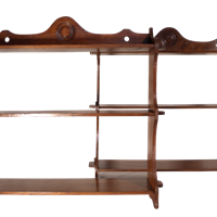 Pair of Edwardian Oak Shelves