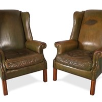 Leather Wingbacks