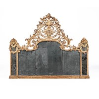 Exceptional and large Louis XIV Piedmontese mirror
