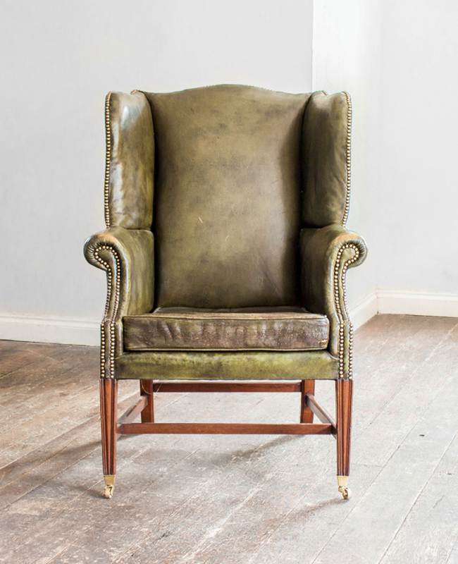 A Mahogany and green leather wing armchair-foster-and-gane-screenshot-2019-03-28-at-143604-main-636893807078767078.png