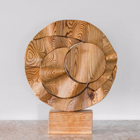 A pitch pine sectional sculpture by lasse brander