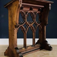 Sympathetically Restored Gothic Solid Oak Lectern